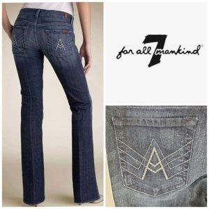 7 FOR ALL MANKIND A Pocket Rhinestone Flare Jeans
